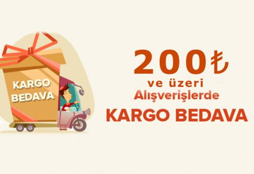 200 lira ve üzeri kargo ücretiz kargo